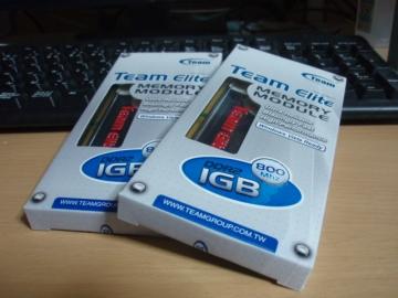 DDR2-800 1GB x2 ヒートスプレッダ付